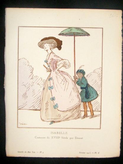 Gazette du Bon Ton by Dresa 1913 Art Deco Pochoir. Isabelle | Albion Prints